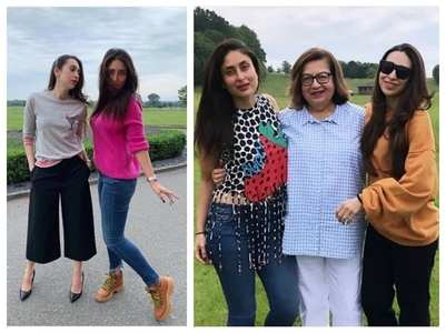 Photos: Karisma-Kareena chill in London