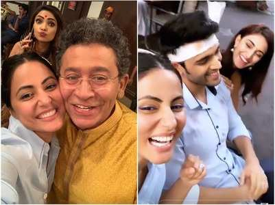 Hina's surprise visit on the sets of KZK