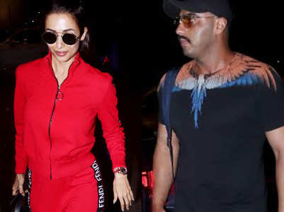 Pics: Arjun-Malaika jet out on a secret getaway