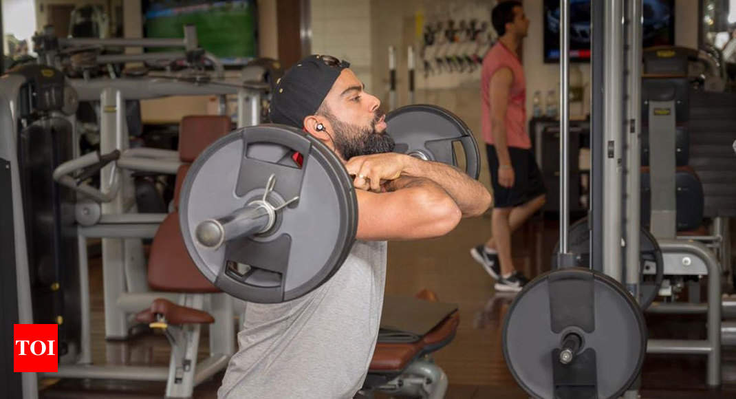 Watch: Kohli sweats it out in gym before WI clash