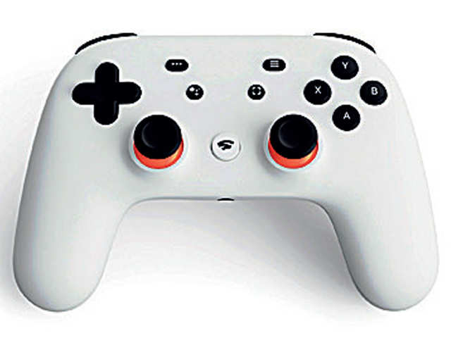 Google's Wi-fi enabled Stadia Controller that connects directly to the service. Google says Stadia will also work with other controllers