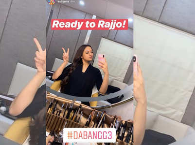 'Dabangg 3':Sonakshi shares mirrorfie as Rajjo