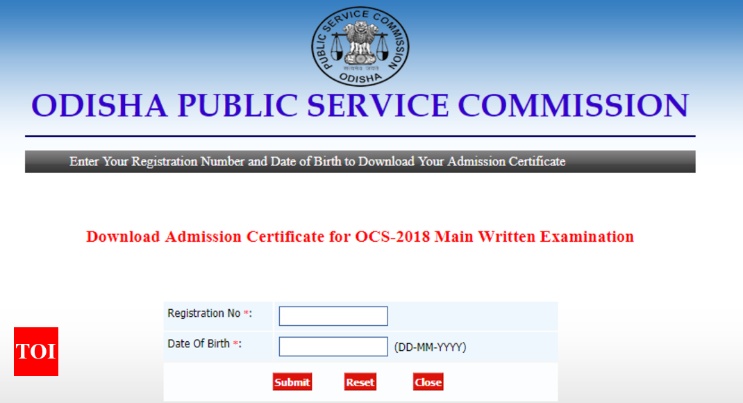 Odisha Civil Services Mains admit card released, here's