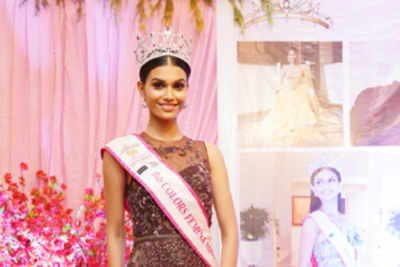A grand welcome for Miss India World 2019 Suman Rao