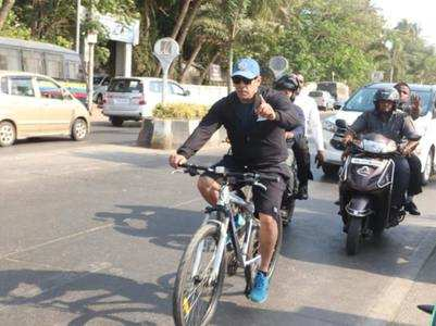 Salman Khan gets trolled for zigzag cycling