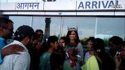 Miss Grand India 2019 Shivani Jadhav returns home
