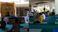 Students and staff of IIT-Gn embrace the yoga life