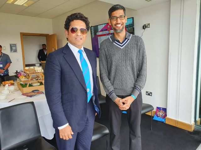 When India's most famous techie met India's most famous cricketer