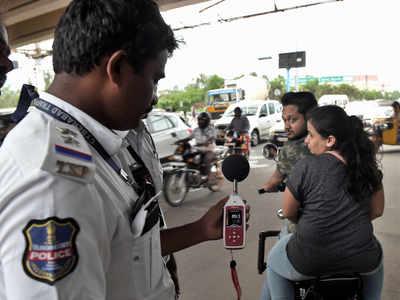 Noisy vehicles get a decibel dose from Cyberabad cops