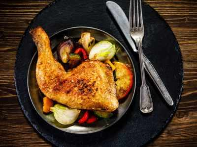What's the safest internal temperature for cooked chicken