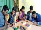 A candle making session for the youngsters of Aurangabad