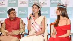Suman Rao & Vanessa Ponce de Leon at menstrual hygiene product launch