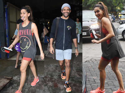Shibani & Farhan gets papped in a playful mood