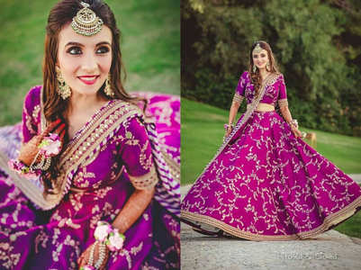 This bride wore the most beautiful PURPLE lehenga ever