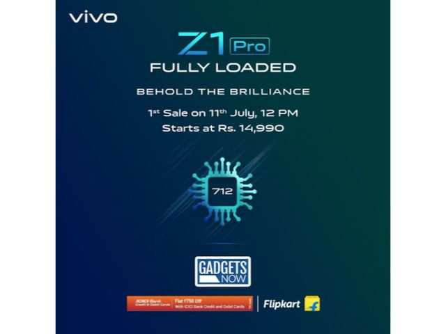 Vivo Z1 Pro with 712 Snapdragon processor, 32MP camera and 5000 mAh battery sale starts today on Flipkart and Vivo India e-store