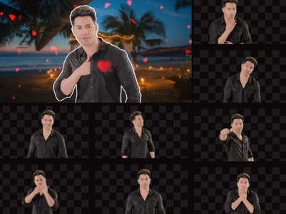 Varun unveils his new collection of GIFs