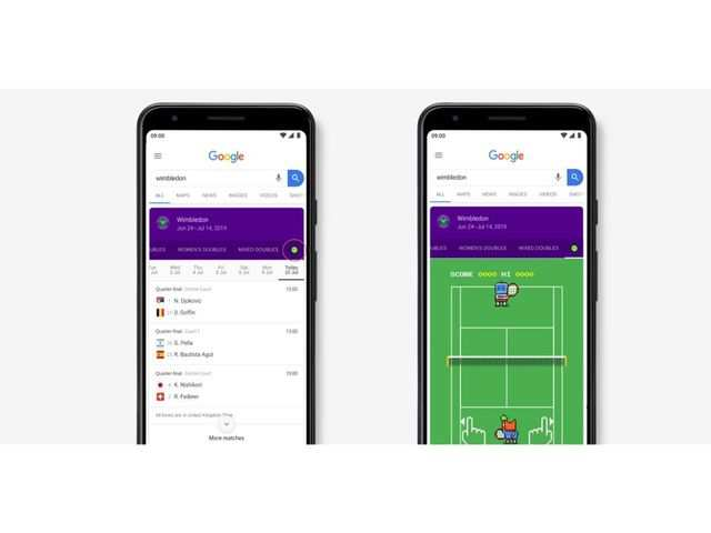 Google has a fun Wimbledon game for you. Here's how you can play it