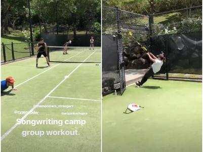 Priyanka Chopra Jonas - Nick Jonas' couple workout session