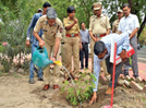 Police officers of Aurangabad conduct tree plantation drive