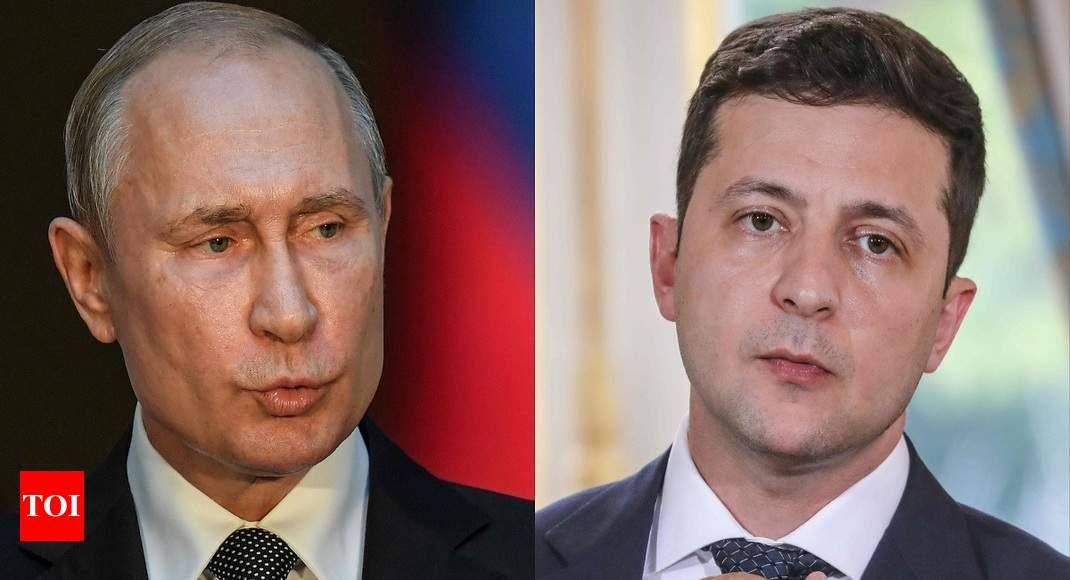 Russia's Putin, Ukraine's Zelenskiy discuss ending conflict in eastern Ukraine
