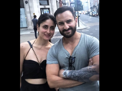 Saif and Kareena pose for a lovely photo