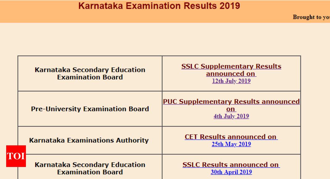 SSLC supplementary result: Karnataka SSLC supplementary result 2019
