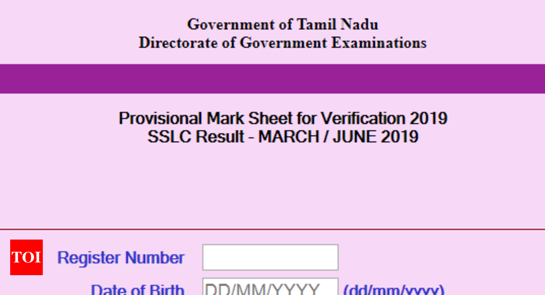 TN 10th result June 2019 declared @dge tn nic in - Times of India