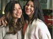 Who is the girl in actress Tejaswini Pandit's recent social media post?