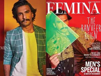 Ranveer shares photos from Femina cover shoot
