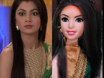 Sriti Jha has a doll designed on her