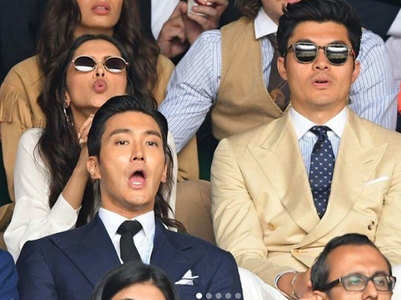 PICS: DP at Wimbledon finale with sister