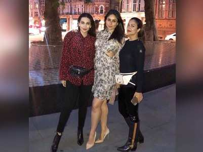 Bebo, Lolo & Amrita pose for a photo in London