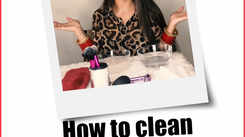 How to clean make-up brushes using a shampoo