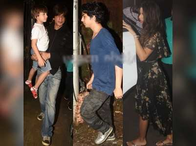 SRK's dinner with Gauri and kids