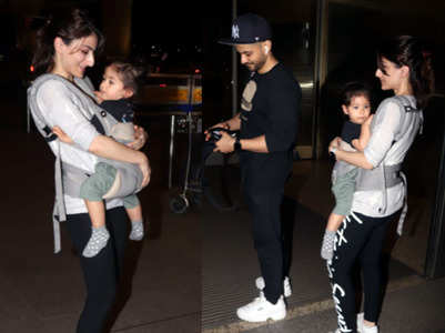 Cuteness alert! Inaaya Khemu looks adorable cuddled up in mom Soha Ali Khan's arms