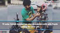 Srinish Aravind is proud of biker Pearle Maaney