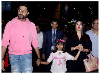 Watch: Ash-Abhishek-Aaradhya back from vacay