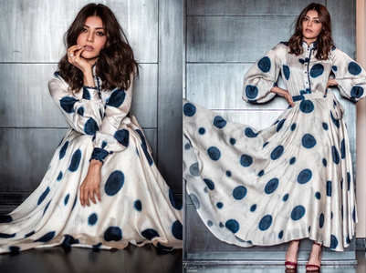 Kajal Aggarwal makes a serious case for polka dots