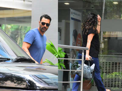 Pics: Arjun-Gabriella papped at the hospital