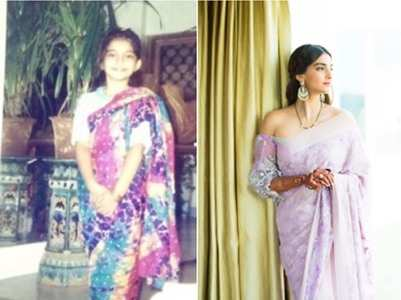 Photo: Sonam gives Saree Challenge a twist