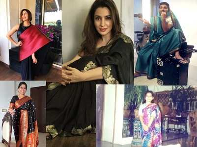 Celebs who accepted #SareeTwitterChallenge