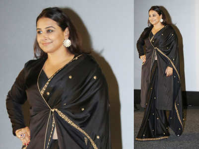 Vidya Balan just showed us how to wear a jacket with sari!