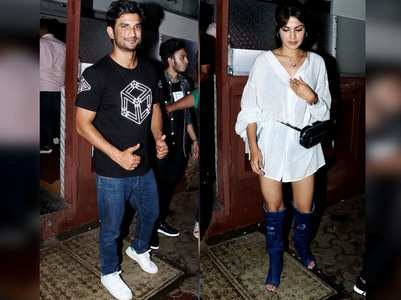 Sushant & Rhea step out for a date night