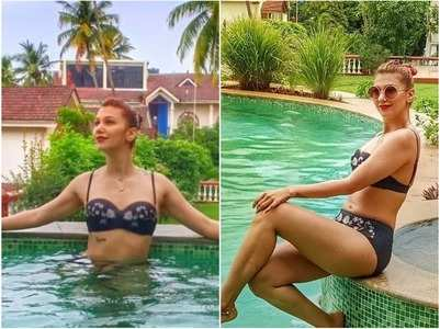 BB 12's Jasleen Matharu sports black bikini