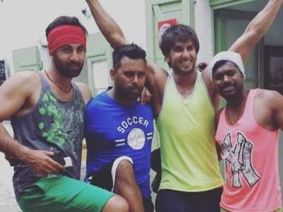 When Ranveer visited sets DP's 'Tamasha'