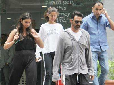 Arjun visits baby & Gabriella with daughters