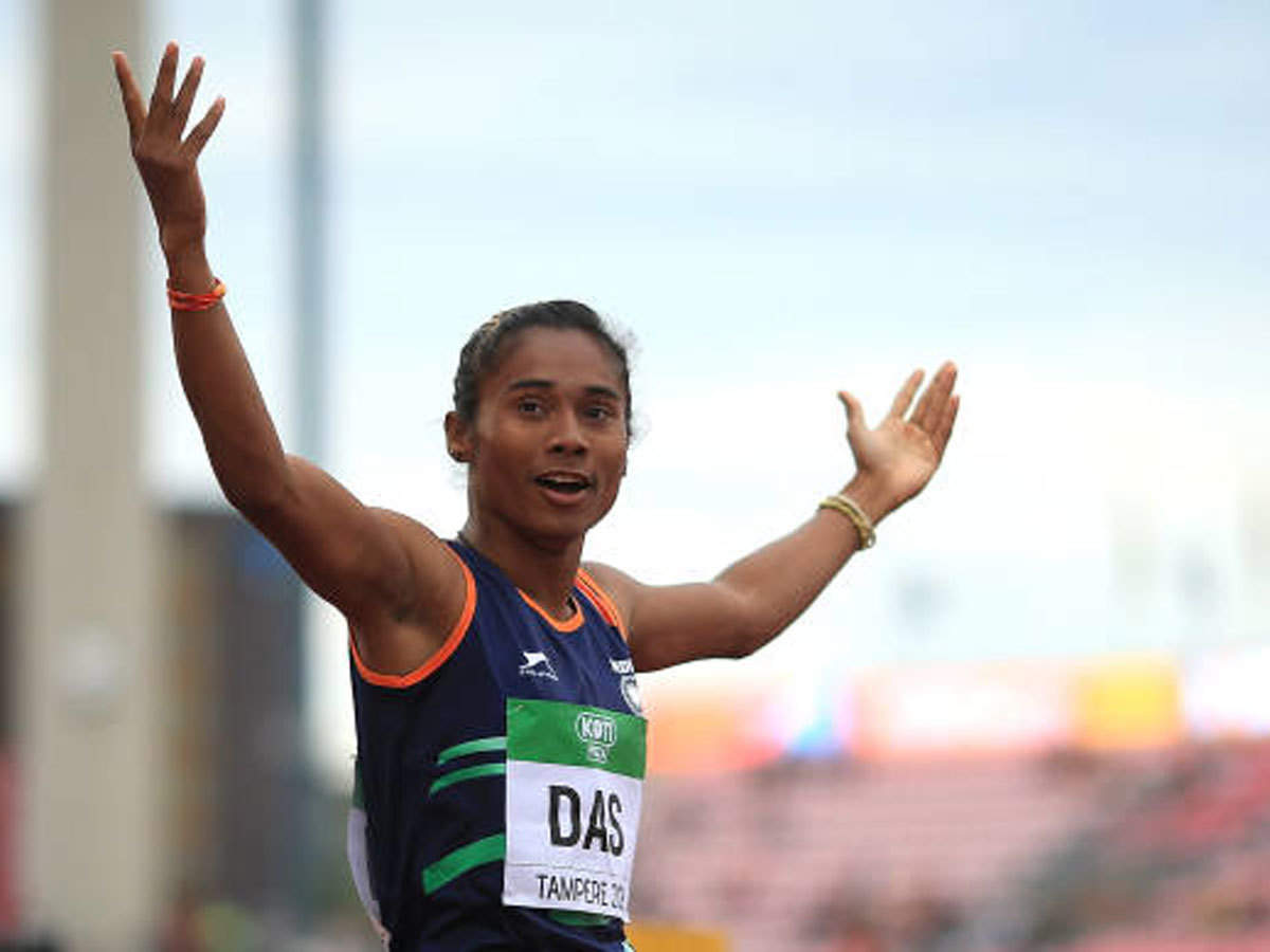 Hima Das Returns To 400m Run Grabs 5th Gold Of Month More Sports News Times Of India