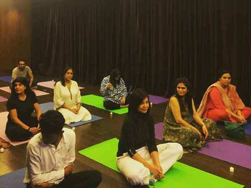 Participants during the shamanic meditation event