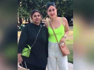 Kareena hangs out with son Taimur in London