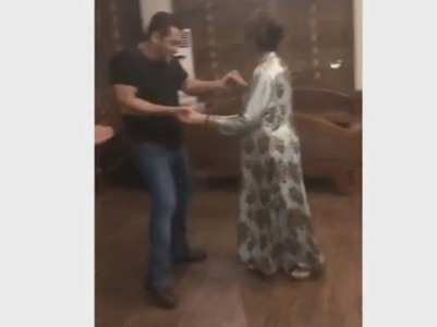 Video: Salman shakes a leg with his mother